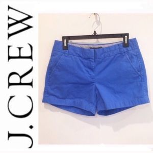 J. Crew flat front chino shorts in blue